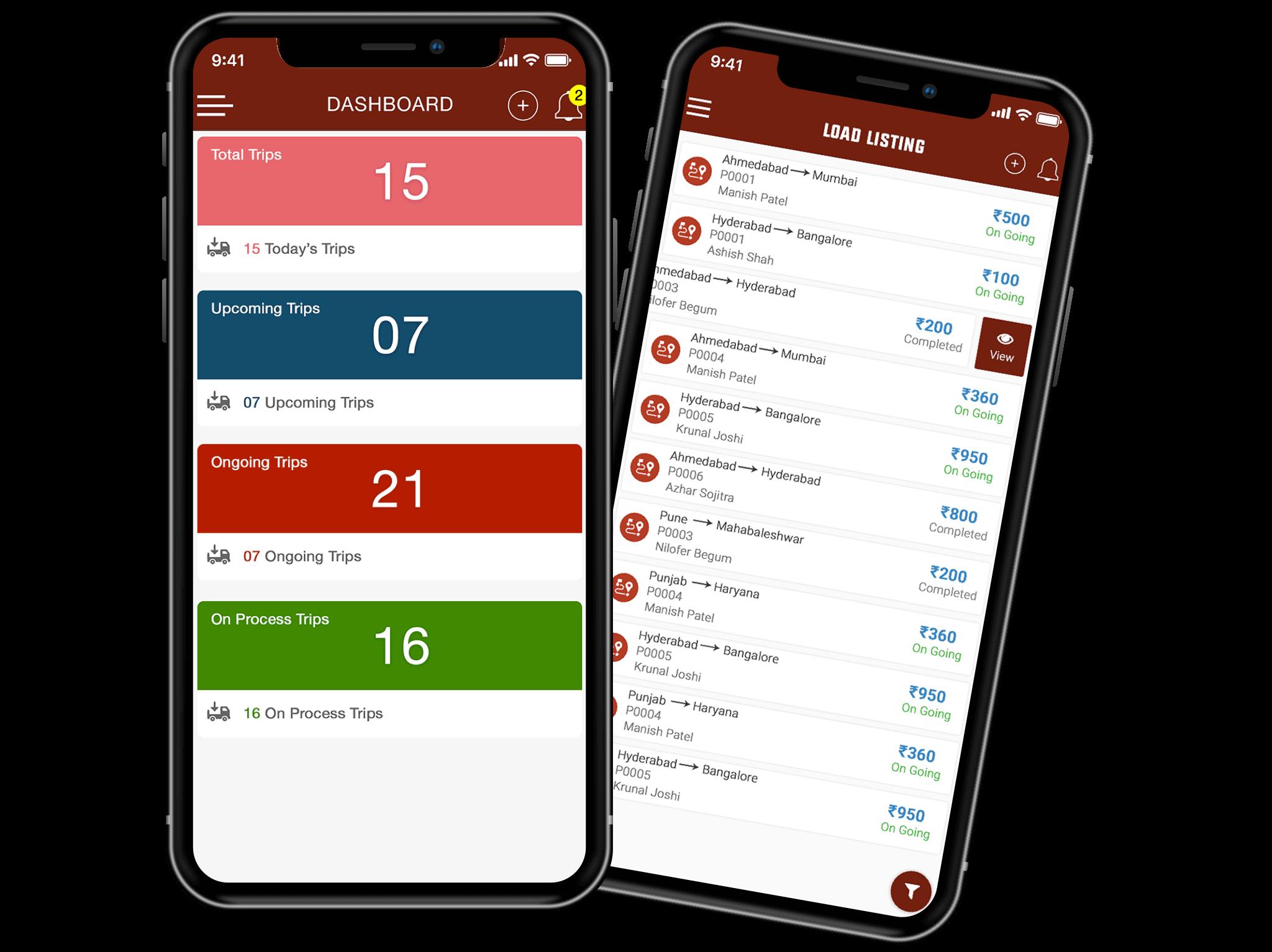 Planes mensuales de Apps para Transporte de Carga