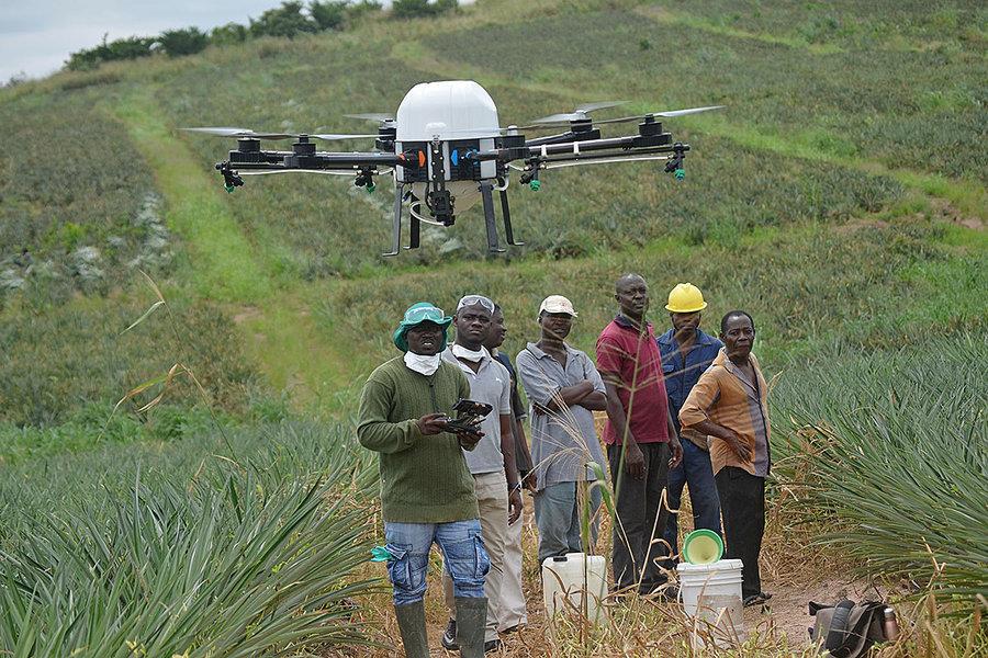 Drones para imágenes y platación