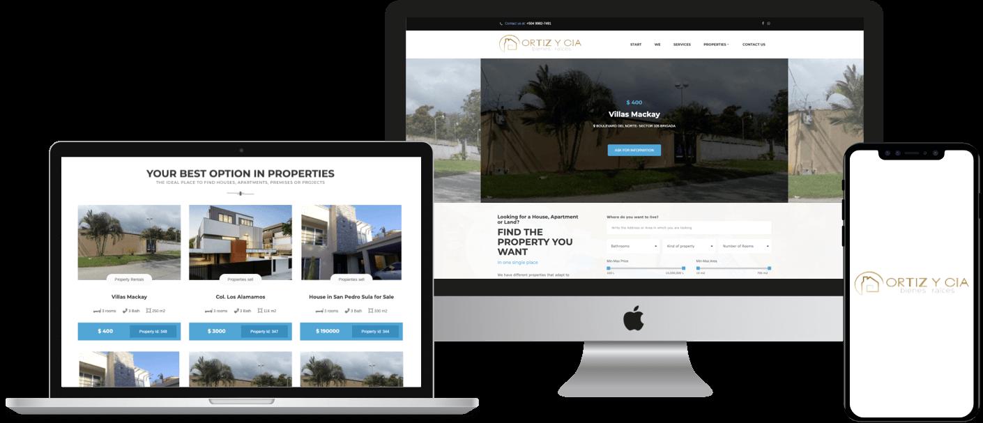 Sitio web de listado de bienes raíces